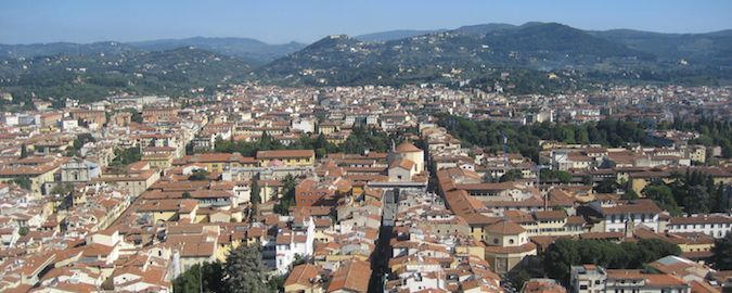 a view of florence of the duomo