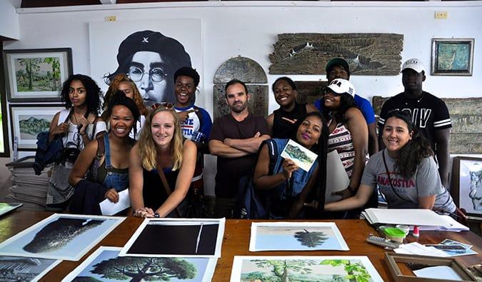 students from Anacostia D.C. Public School in Cuba