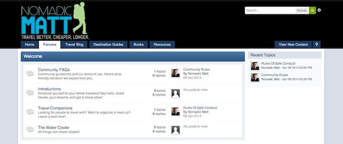 nomadic matt forums
