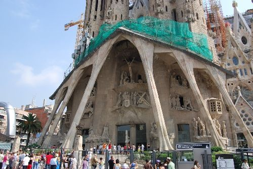Gaudi's La Sagrada Familia in Barcelona Spain