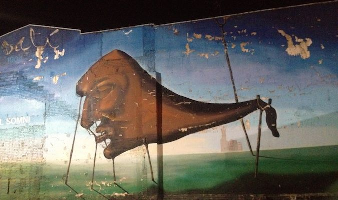 dali painting in girona, spain