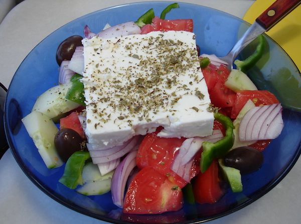 A delicious and healthy Greek salad
