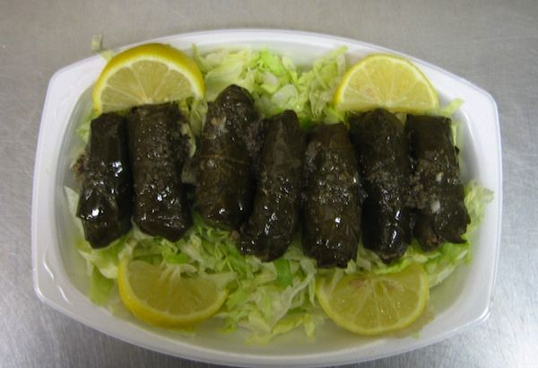 Traditional Greek stuffed vine leaves are tasty