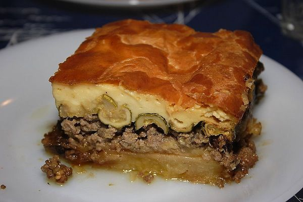 A famous dish in Greece: Moussaka