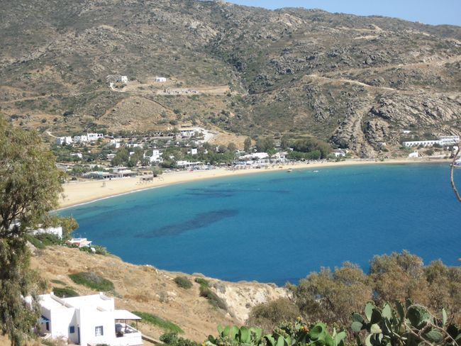 The beautiful landscape of the island of Ios
