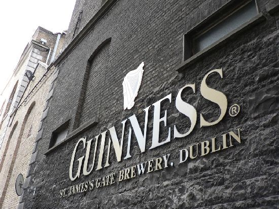 The Guinness Factory in downtown Dublin