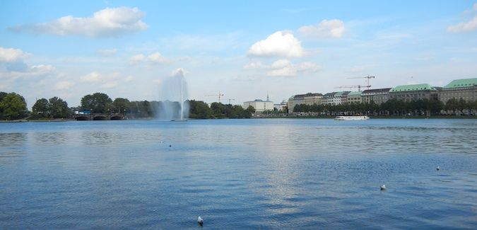 alster lake in hamburg