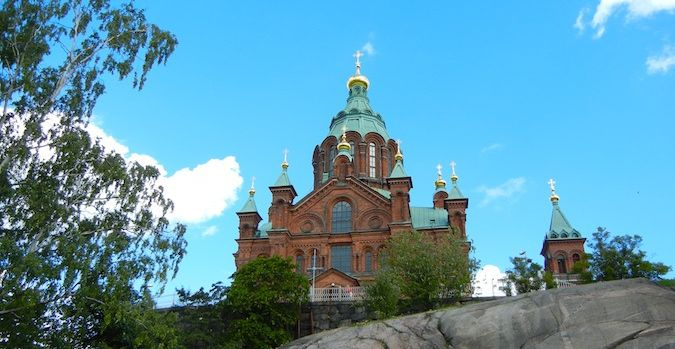 Uspenski Church in Helsinki, Finland
