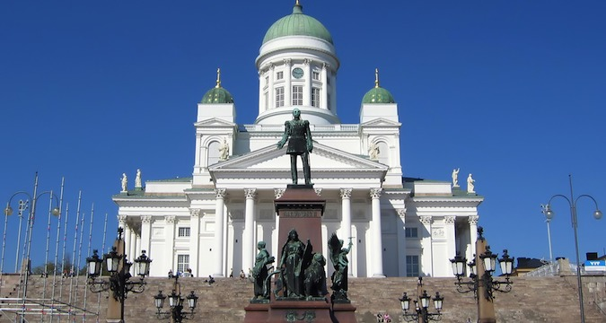 Helsinki Cathedral is a very iconic must-see building in Finland