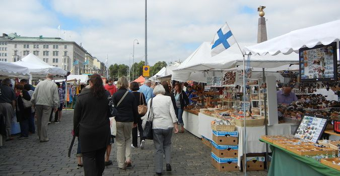 The Central Market in Helsinki, Finland is a great place to visit