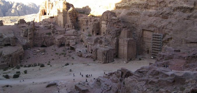 The ruins of Petra Jordan
