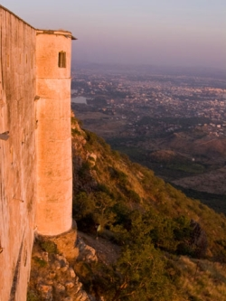 Udiapur India Monsoon Palace at the golden hour