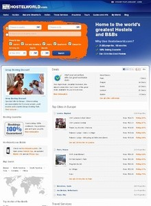hostelworld main page