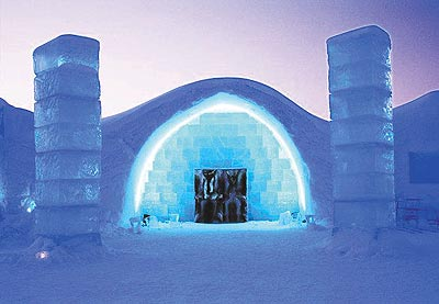 Sweden Ice Hotel outside entrance