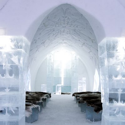 Sweden Ice Hotel's entrance