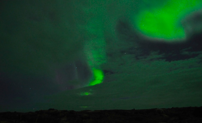 Incredible magic photo of the northern lights as seen from Iceland
