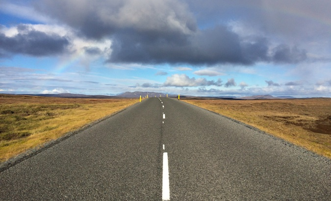 the Ring Road that circles the country of Iceland