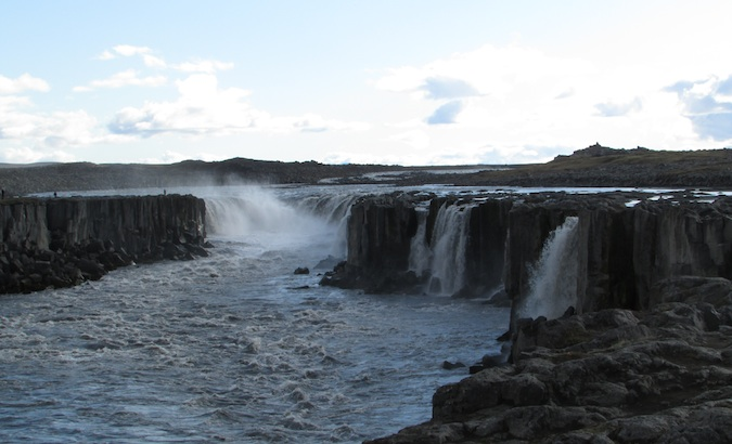 Selfoss waterfall scene in Iceland