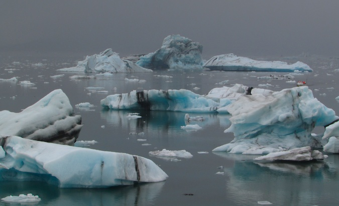 Jökulsárlón ice lagoon in the southeast of Iceland