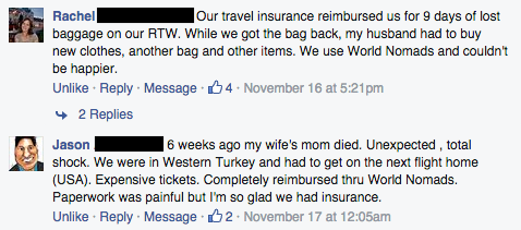 Travel insurance story