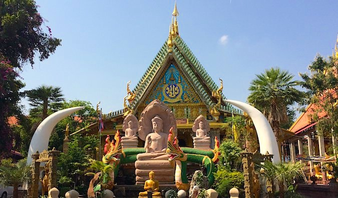 Bright Buddhist temple in Ubon Ratchathani