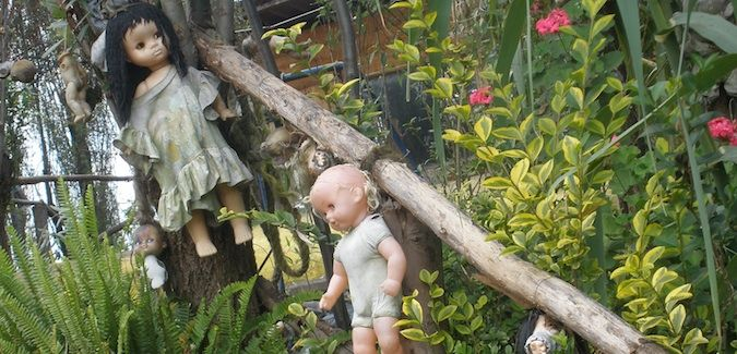 dolls on the island of dolls in mexico