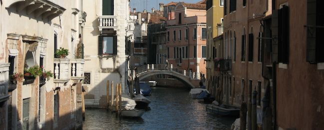 The canals and bridges of Venice, Italy