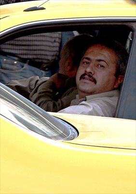 Male taxi drivers in Jordan
