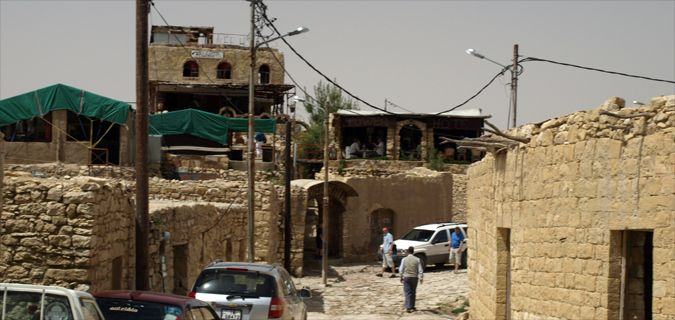The dusty crowded and poverty stricken streets of Jordan