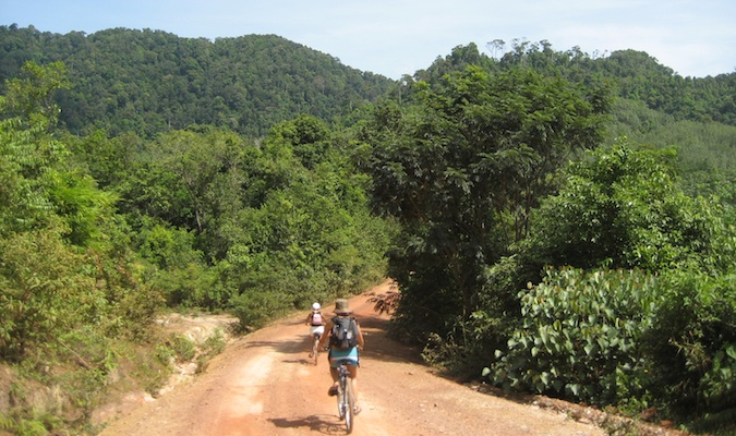 Biking in Ko Lanta in 2006