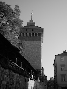 the fortress wall in krakow