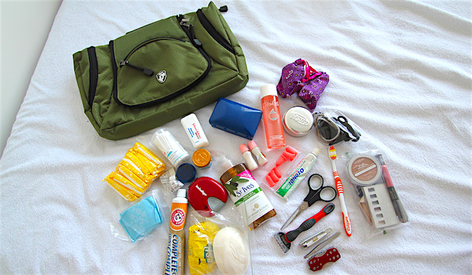 toiletries to pack while traveling