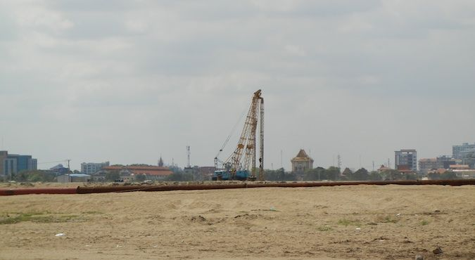 Construction on what remains of Beoung Kak Lake