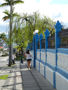 walking down the street in san jose, costa rica