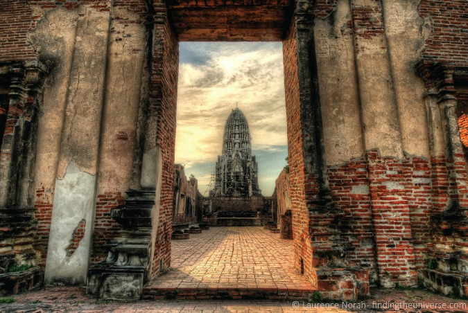 Photo of beautiful, old temple in Ayutthaya, Thailand