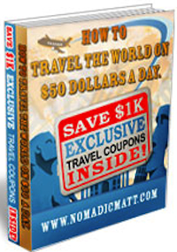 Nomadic Matt's how to travel the world on $50 a day book cover