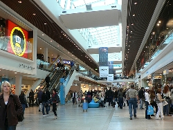 shopping in shopping malls