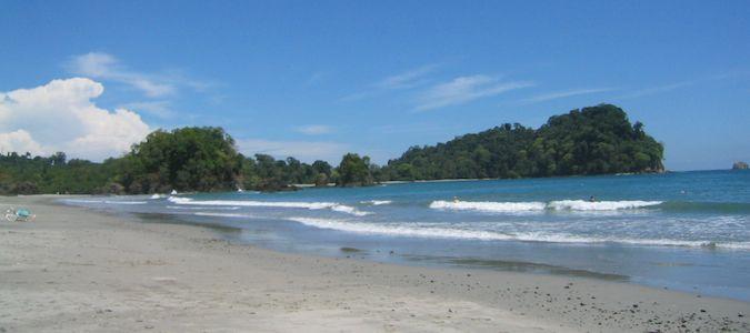 the beach in manuel antonio.