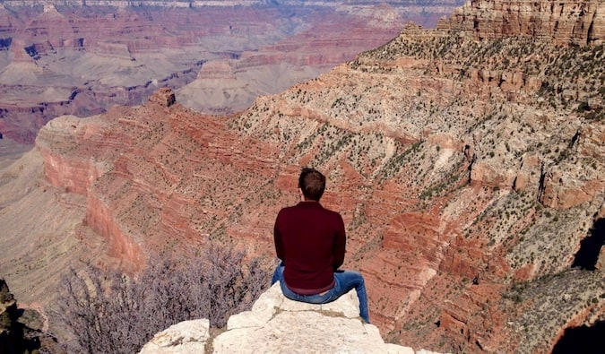 Mark Manson at the Grand Canyon