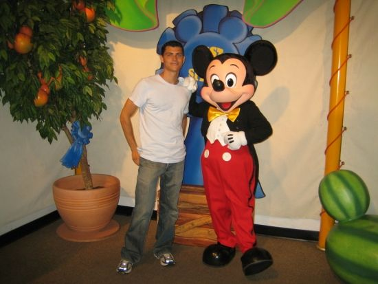 Mickey Mouse and me in disney world