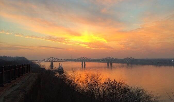 sunset in america