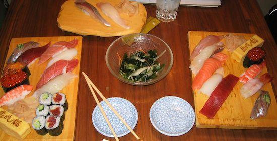 Delicious sushi in America