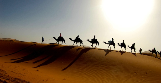 camel ride through morocco