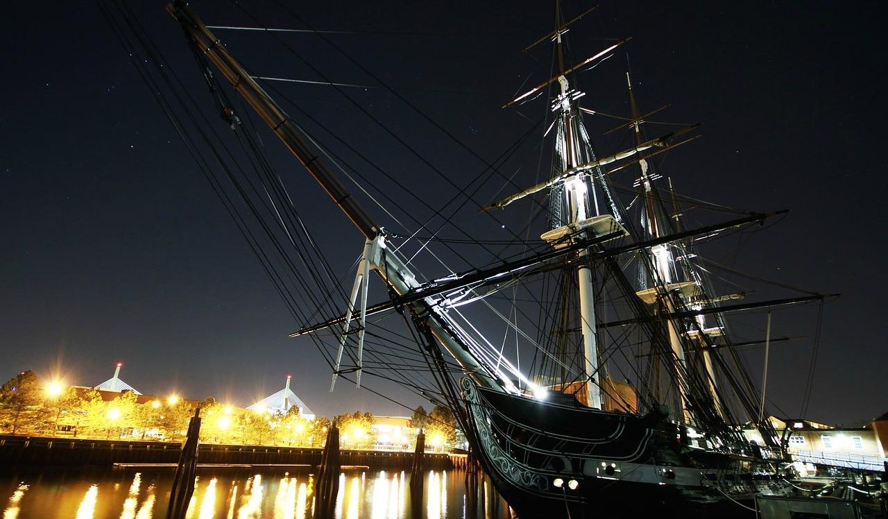 Boston ships in the harbor