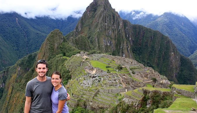 the naumans in macchu picchu traveling