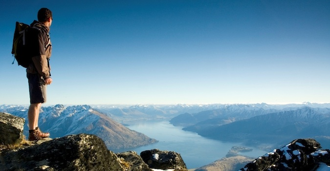 guy on a mountain