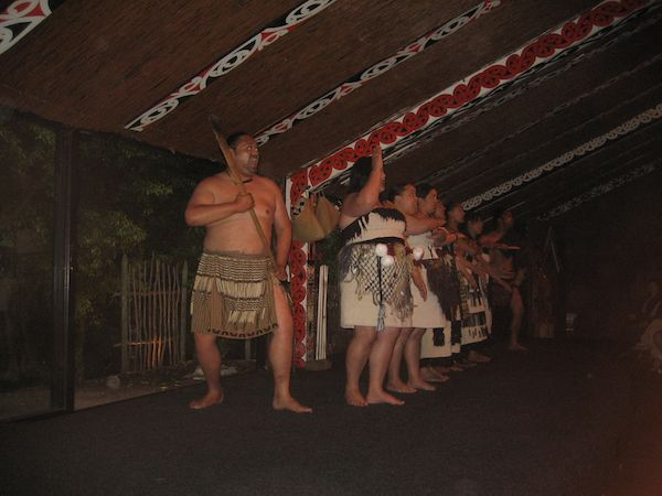 Traditional Maori cultural dance show in NZ