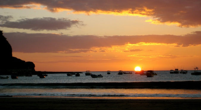 sunset in san jaun del sur