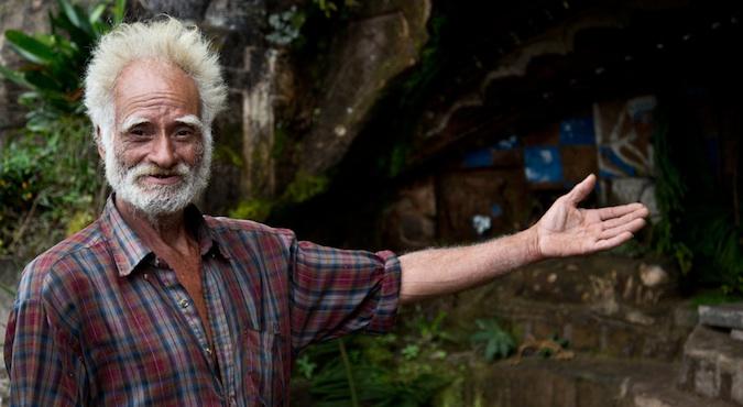 Alberto Gutiérrez, an old man stone mason in Nicaragua