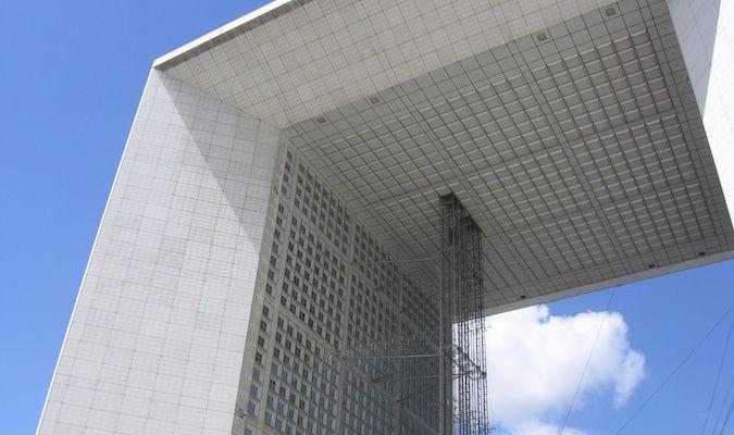 An architectural wonder, the La Defense Paris France